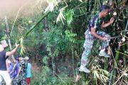 Begini Tindakan TNI-AD Perangi Tanah Longsor  di Bojonegoro