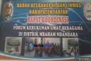 Bakesbanglinmas Rapat Kordinasi FKUB Di Kabupaten Fakfak