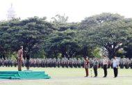 Kajati Aceh jadi Inspektur Upacara Pada Apel Se-Garnizum