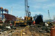 Satu Kapal di Pelabuhan Tanjung Priuk Ludes Terbakar