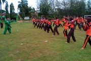 Saka Wira Kartika Binaan Koramil 0811-13 Tambakboyo Gelar Latgab
