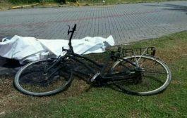 Seorang Pria Pengendara Sepeda Ontel Hangus Terbakar