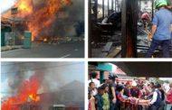 Si Jago Merah Hanguskan 3 Bangunan Depan LPP RRI Bukittinggi
