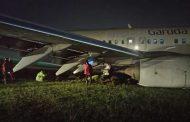 Pesawat Garuda Indonesia GA 258 Tergelincir di Yogyakarta