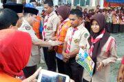 Anggota Pramuka Pidie Jaya Dapat Bantuan Secara Simbolis