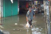Gresik Selatan Kembali Direndam Banjir. Aktifitas Perekonomian Pasar Terganggu