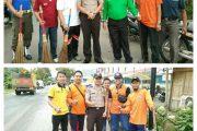 Bhabinkamtibmas Kelurahan Kemelak Jumat Bersih Bersama Bupati OKU