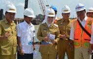 Wawako Palembang Tinjau Pembangunan Jembatan Musi IV dan Pompanisasi Sungai Bendung