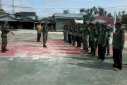 Babinsa Simpang Hilir Latih Baris-Berbaris Linmas