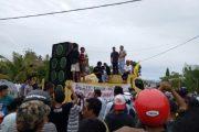 Soal PSU,  Massa Pendukung Elang – Rahim Kecam Panwas Halteng