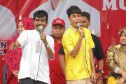 Ini Orasi Politik Rusman-Ichsan Dihadapan Ribuan Massa Tamiang