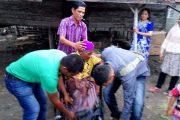 H.Ruslan Titip Kursi Roda Untuk Penderita Lumpuh Di Lancang Dayah