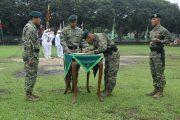 Serah Terima Tongkat Komando Danyon Arhanud 1 Kostrad