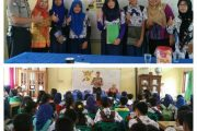 Bhabinkamtibmas Kelurahan Kemelak Silaturahmi Ke SMP Negeri 23 OKU