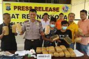 Polres Sergai Berhasil Amankan Peredaran Ganja 24 kg Asal Aceh -Pekan Baru .
