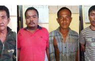 4 Pelaku Pencurian Batu Bronjong di Sungai Ular di Amankan Polisi