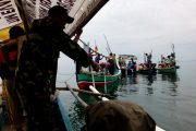 Koramil 0820 Tongas, Forkopimka Tebar 4000 Bibit Ikan