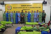 HUT Ke 53 Dharma Pertiwi Dan HUT Persit KCK Ke 71 Gelar Donor Darah