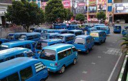 Supir Angkot Mogok, Transportasi di Kota Malang Macet
