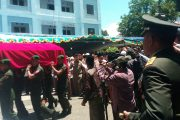 Pangdam Pimpin Upacara Militer Pemberangkatan Jenazah Kyai Hasyim Muzadi