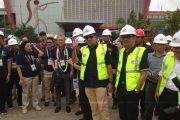 Dampingi Kemenpora, Wako Palembang Tinjau Progres Pembangunan Benue Olahraga