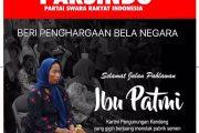 Partai Parsindo : Ibu Patmi Layak Diberi Penghargaan Bela Negara