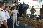 Bakamla RI Kunjungi Kapal Perang Cantik Asal Italia