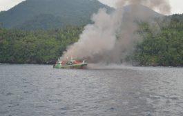 Kapal Ikan Asing Dimusnahkan di Perairan Ternate Maluku Utara
