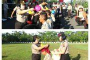 Upacara Tradisi dan Penyambutan Bintara Polri di Mapolres OKU Berlangsung Hikmad