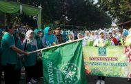 Peringati Harlah Fatayat ke 67 ,Jalan Sehat Pakai Pakaian Daur Ulang