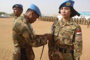 63 Prajurit Garuda Naik Pangkat di Darfur Sudan