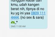 Gara Gara Sms no sex no Sara di Provider Telkomsel, Istri Aniaya Suami