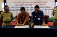 BPJS-Kes Dan BPJS Ketenagakerjaan Ambon Lakukan Penandatanganan Perjanjian Kerjasama