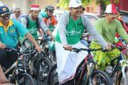 Gus Ipul Bersepeda, Bersarung, Bershalawat dan Kampanyekan Cinta Tanah Air