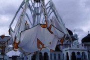 Payung Eliktrik Mesjid Raya Bahiturrahman Banda Aceh Runtuh