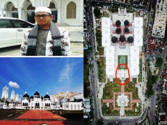 Peresmian Masjid Raya Baiturrahman di Warnai Lambang Salib