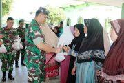 Harga Daging di Aceh Mahal,Dandim 0104/Atim Bagikan Gratis