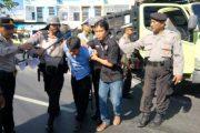 Jelang Demo Aspamin Polres Banyuwangi Latihan Pengamanan