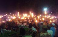 Sambut Ramadhan, Ribuan Masyarakat Touna Pawai Obor