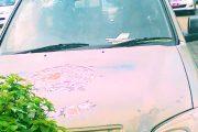 Dilempar Orang Tak Dikenal,Kaca Mobil Satpol.PP Torut Retak