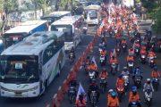 Suasana Kota Surabaya Kedatangan Aksi Buruh