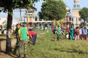 Peduli Lingkungan, Yonif Raider 515 Laksanakan Karya Bhakti