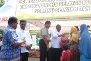 Polres Sorsel Bersama Pemkab Sorsel Gelar Pasar Murah
