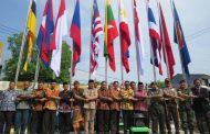 Dandim 0814 Jombang Turut Resmikan Taman ASEAN