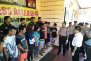 Operasi Antik Telabang, Polres Bartim Berhasil Tangkap 10 Tersangka Narkoba
