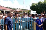 Aliansi Masyarakat Peduli Kepulauan Nias Demo Bulog Gunungsitoli
