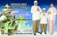 Samsudin Anggiluli, SE Mengucapkan Selamat Hari Raya Idul Fitri
