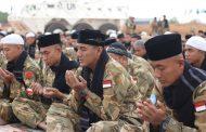 Pasukan Garuda Satgas Indobatt-03 Gelar Sholat Idul Fitri di Sudan