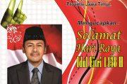 HM Muwaffaq S. ag, Msi Sampaikan Ucapan Idul Fitri 1438 H