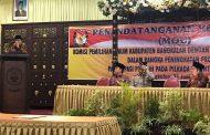 MoU KPU dan Polres Bangkalan Tentang Peningkatan Partisipasi Pemilih